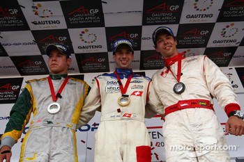 Podium: race winner Neel Jani, second place Felipe Guimaraes, third place Clivio Piccione