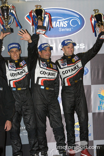 GT2 podium: second place Luis Companc, Mathias Russo and Gianmaria Bruni