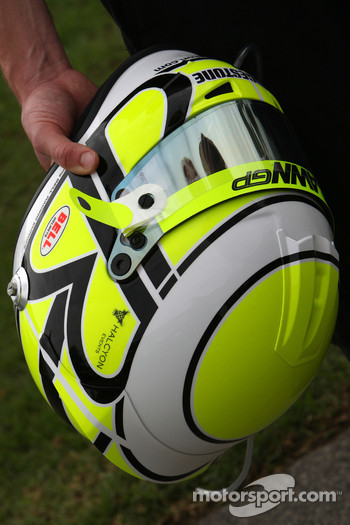 The new helmet of Jenson Button, Brawn GP