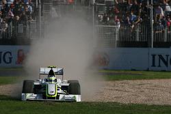 Rubens Barrichello, Brawn GP, BGP001, BGP 001 off the circuit
