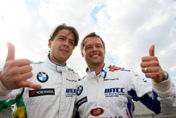 Qualifying First and second, Augusto Farfus, BMW Team Germany and Andy Priaulx, BMW Team UK