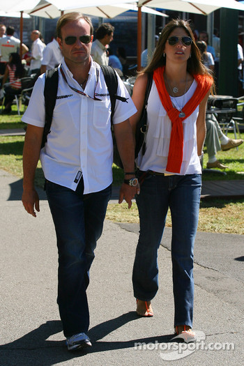 Rubens Barrichello, Brawn GP with his wife  Silvana Barrichello