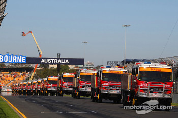 Trucks at the drivers parade