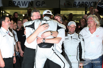 Ross Brawn Brawn GP Team Principal, Jenson Button, Brawn GP, Nick Fry, BrawnGP, Chief Executive Officer