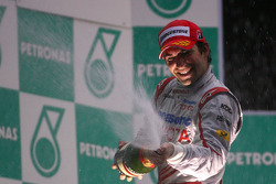 Podium: third place Timo Glock, Toyota F1 Team