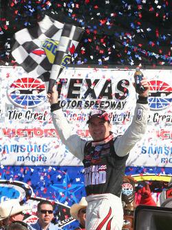 Victory lane: race winner Jeff Gordon, Hendrick Motorsports Chevrolet, celebrates