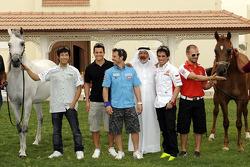 MotoGP riders visit a Qatari ranch