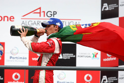 Provisional third place Filipe Albuquerque, driver of A1 Team Portugal