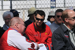 Graham Rahal in the crowd to watch his father get inducted