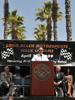 Bobby Rahal gives his speech