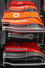 Twp different McLaren Mercedes, front wings