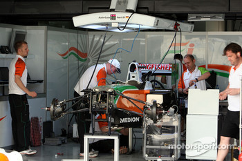 Force India F1 Team pit area