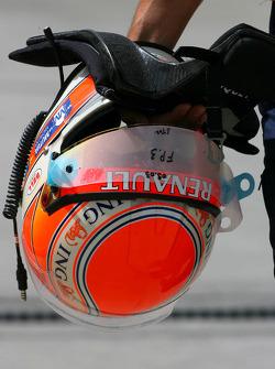 Helmet of Nelson A. Piquet, Renault F1 Team