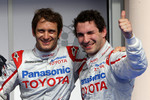 Pole winner Jarno Trulli, Toyota F1 Team with second place Timo Glock, Toyota F1 Team