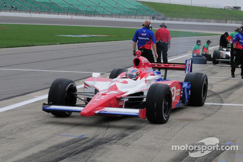 Hideki Mutoh, Andretti Green Racing leaves the pits
