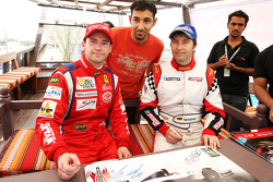 Thomas Biagi Palm Beach and Heinz-Harald Frentzen Team Lavaggi  sign autographs for the fans