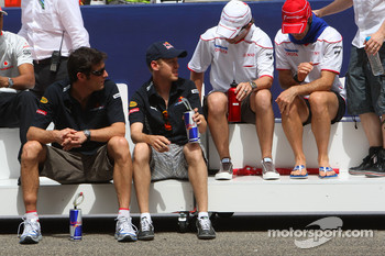 Mark Webber, Red Bull Racing, Sebastian Vettel, Red Bull Racing, Timo Glock, Toyota F1 Team and Jarno Trulli, Toyota Racing