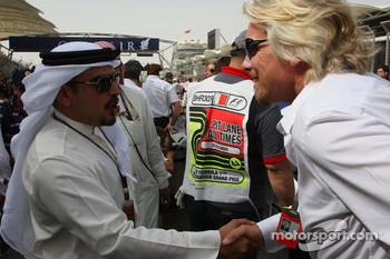 Mohammed bin Sulayem and Sir Richard Branson CEO of the Virgin Group