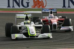 Rubens Barrichello, Brawn GP and Jarno Trulli, Toyota F1 Team