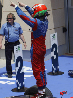 Luiz Razia celebrates his first GP2 Asia victory
