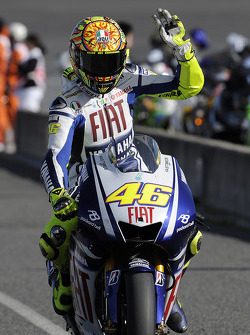 Second place Valentino Rossi, Fiat Yamaha Team