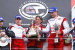 GT1 podium: class and overal winners Karl Wendlinger and Ryan Sharp