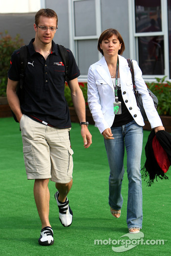 Sébastien Bourdais, Scuderia Toro Rosso with his wife
