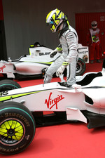 Pole winner Jenson Button, Brawn GP