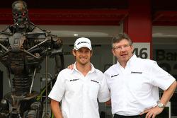 The Terminator, Jenson Button, Brawn GP and Ross Brawn Brawn Grand Prix Team Principal