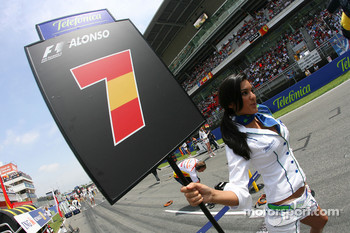 Grid girl of Fernando Alonso, Renault F1 Team