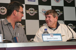 Josele Garza rookie of the year in 1981 chats with Jerry Sneva, Rookie of the Year in 1977