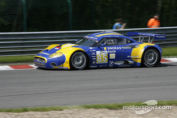 #85 Snoras Spyker Squadron Spyker C8 Laviolette GT2 - R: Tom Coronel, Peter Dumbreck