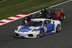 #90 FBR Ferrari F430 GT: Pierre Ehret, Dominik Farnbacher; #26 Bruichladdich Bruneau Radical SR9 - AER: Pierre Bruneau, Tim Greaves, Jonathan Coleman