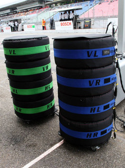 Dunlop Tyres waiting for the DTM cars