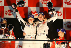 GT2 podium: class winners Emmanuel Collard and Richard Westbrook