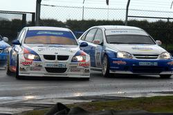 Jonny Adam and Harry Vaulkhard battle into Goddards