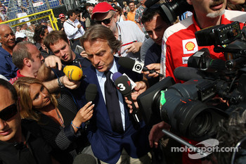 Luca di Montezemolo, Scuderia Ferrari, FIAT Chairman and President of Ferrari leave the FOTA meeting on the boat of Flavio Briatore, Renault F1 Team, Team Chief, Managing Director