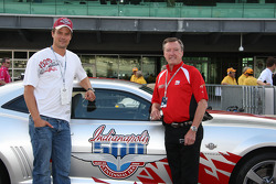 Indy 500 Pace Car drivers Josh Duhamel and Johnny Rutherford