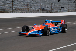 John Andretti enters the pits