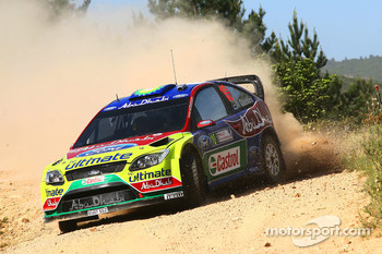 Khalid Al Qassimi and Michael Orr, BP Ford Abu Dhabi World Rally Team, Ford Focus RS WRC