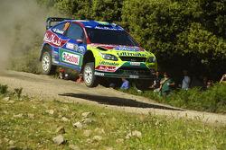 Khalid Al Qassimi and Michael Orr, BP Ford Abu Dhabi World Rally Team, Ford Focus RS WRC