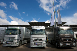 Mercedes teams transporters