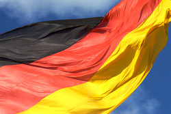 DTM: Visit of Berlin: German flag at the Reichstag buliding