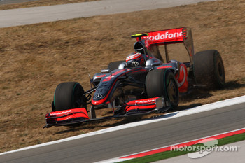 Heikki Kovalainen, McLaren Mercedes off the track