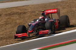 Heikki Kovalainen, McLaren Mercedes off the track