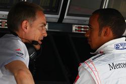 Martin Whitmarsh, McLaren, Chief Executive Officer with Lewis Hamilton, McLaren Mercedes