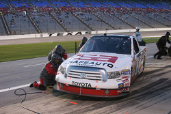 Pit stop for the #60 SafeAuto Insurance Toyota of Stacy Compton