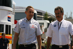 Martin Whitmarsh, McLaren, Chief Executive Officer and Dr. Mario Theissen, BMW Sauber F1 Team, BMW Motorsport Director