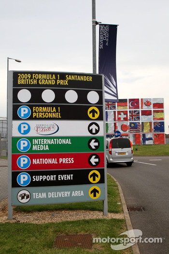Signs around the circuit