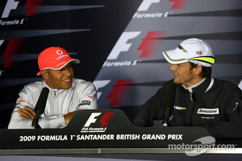 FIA press conference: Lewis Hamilton, McLaren Mercedes, Jenson Button, Brawn GP